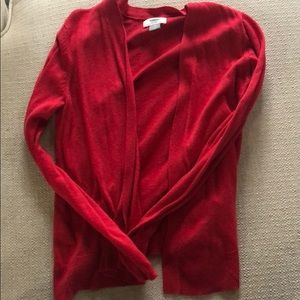 Red cardigan old navy size XS